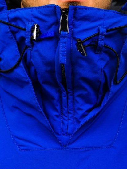 Modrá pánská sportovní zimní bunda Bolf JS166