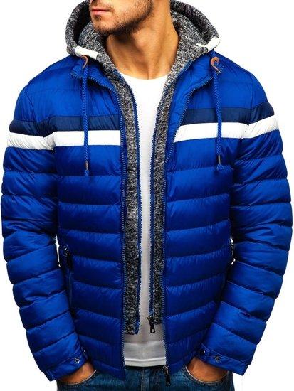 Modrá pánská zimní bunda Bolf A181