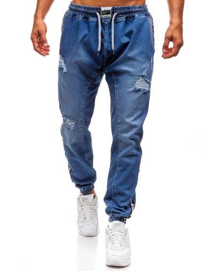 Modré pánské džínové baggy kalhoty Bolf 2045