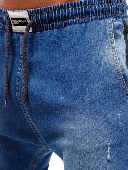 Modré pánské džínové jogger kalhoty Bolf 2053