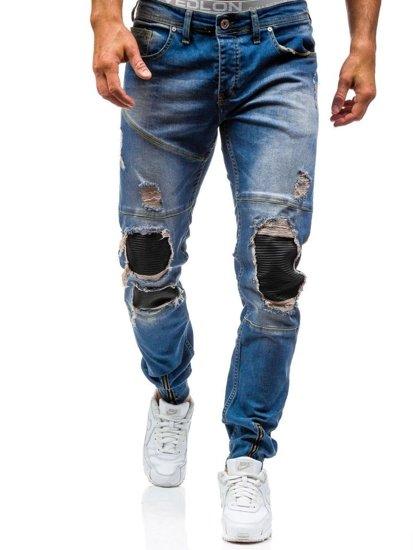 Modré pánské jogger kalhoty Bolf 456