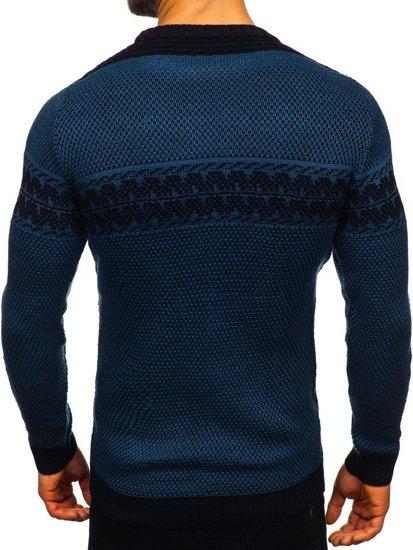 Modrý pánský svetr Bolf 1806