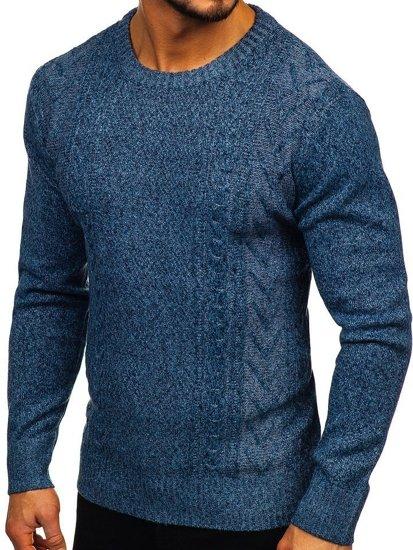 Modrý pánský svetr Bolf H1937