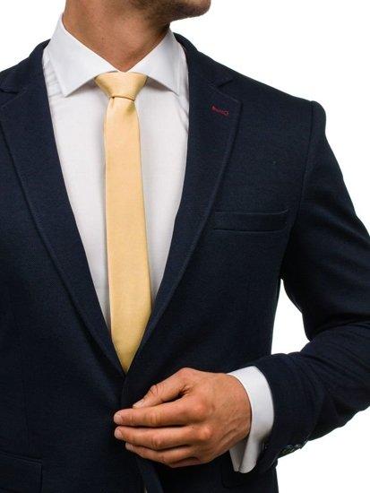 Oranžová pánská elegantní kravata Bolf K001