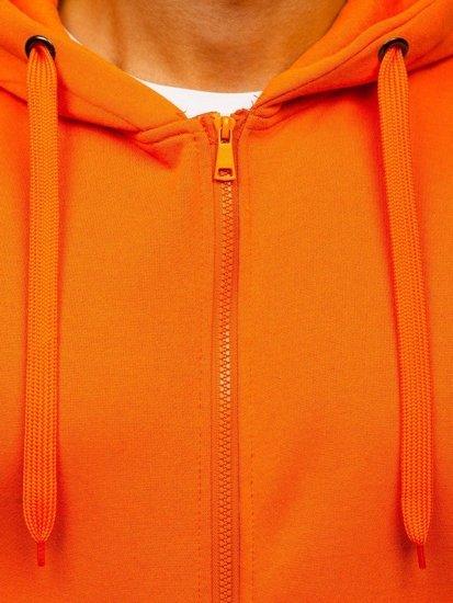 Oranžová pánská mikina s kapucí Bolf 2008
