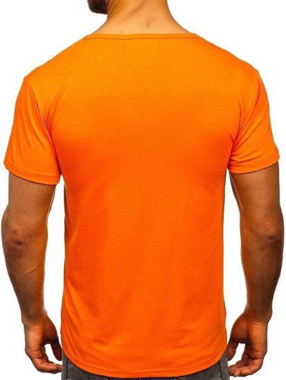 Oranžové pánské tričko s potiskem Bolf KS1966