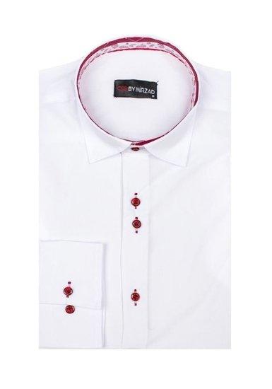 Pánská bílá elegantní košile s dlouhým rukávem Bolf 6922