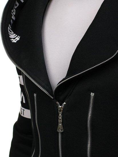 Pánská černá mikina s kapucí Bolf Y36-3