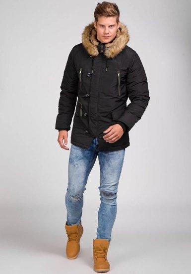 Pánská černá zimní bunda Bolf parka 3150