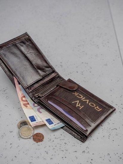 Pánská hnědá kožená peněženka 3191