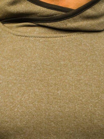 Pánská khaki mikina s kapucí Bolf 1685