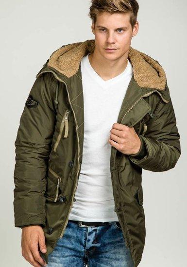 Pánská khaki zimní bunda Bolf parka 3150