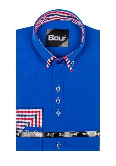 Pánská košile BOLF 0926 královsky modrá