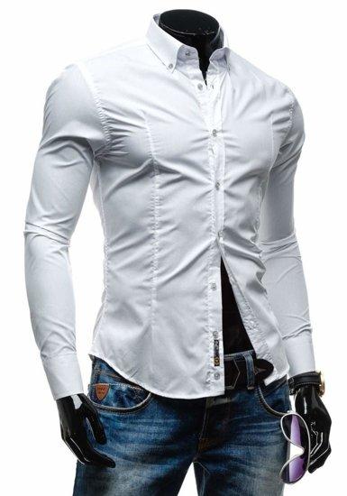 Pánská košile BOLF 1703-1 bílá