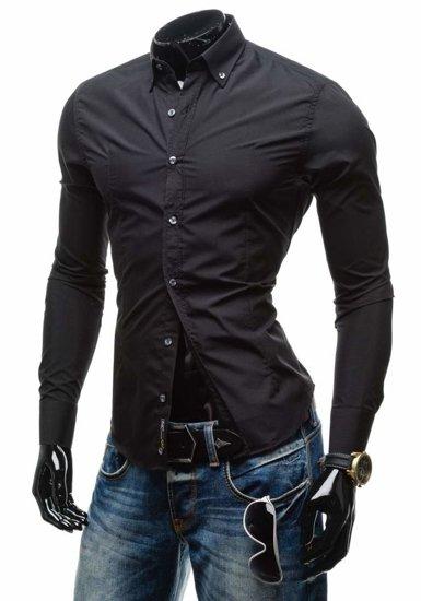 Pánská košile BOLF 1703-1 černá