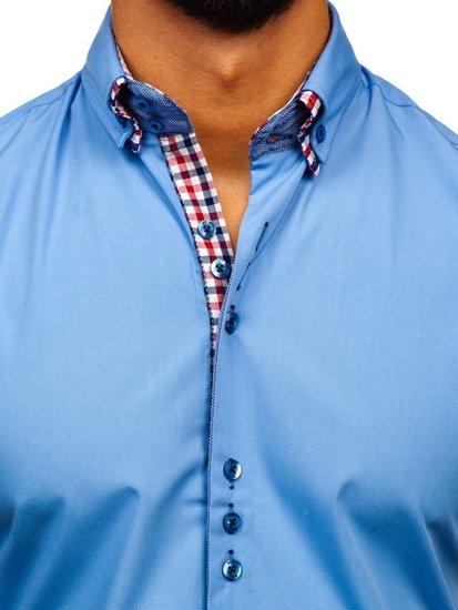 Pánská košile BOLF 3507 blankytná