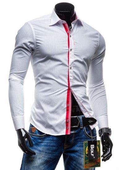 Pánská košile BOLF 3760 bílá