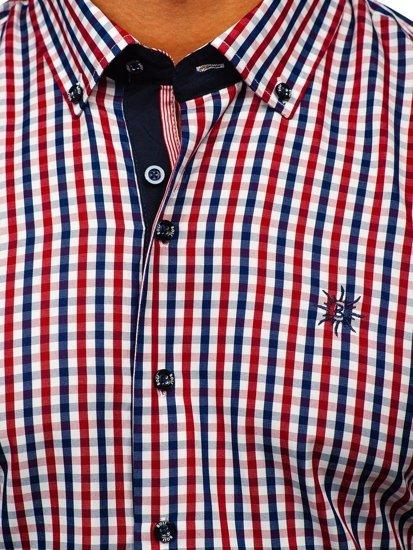 Pánská košile BOLF 4510 červená