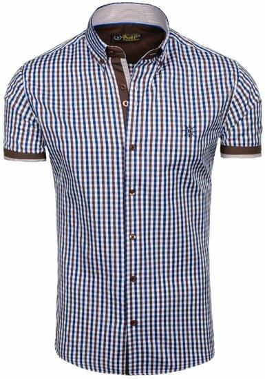 Pánská košile BOLF 4510 hnědá