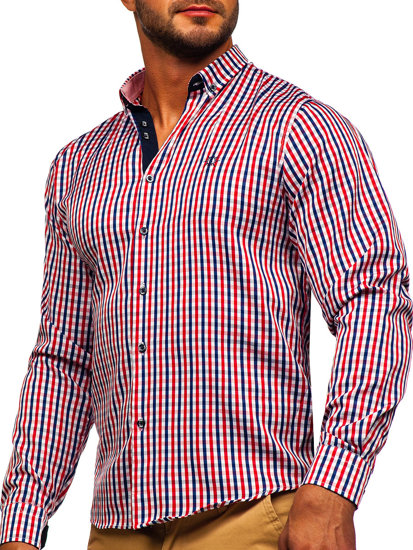 Pánská košile BOLF 4712 červená