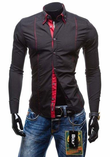 Pánská košile BOLF 4744 černá