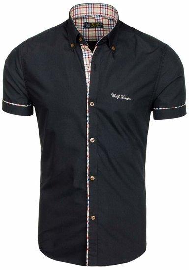 Pánská košile BOLF 5509-1 černá