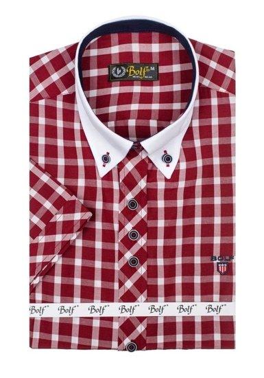 Pánská košile BOLF 5531 bordová