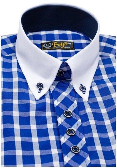 Pánská košile BOLF 5531 královsky modrá