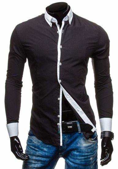Pánská košile BOLF 5798 černá