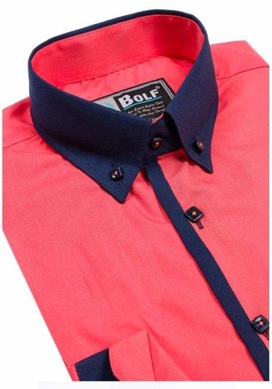 Pánská košile BOLF 5798 koralová