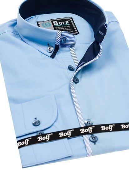 Pánská košile BOLF 5811 blankytná