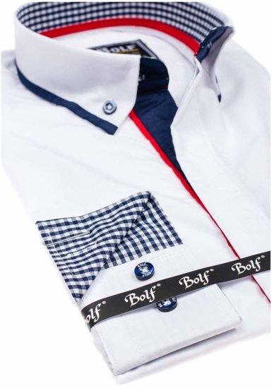 Pánská košile BOLF 6857 bílá
