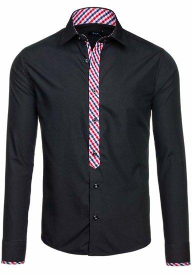 Pánská košile BOLF 6867 černá