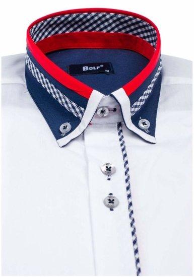 Pánská košile BOLF 6874 bílá