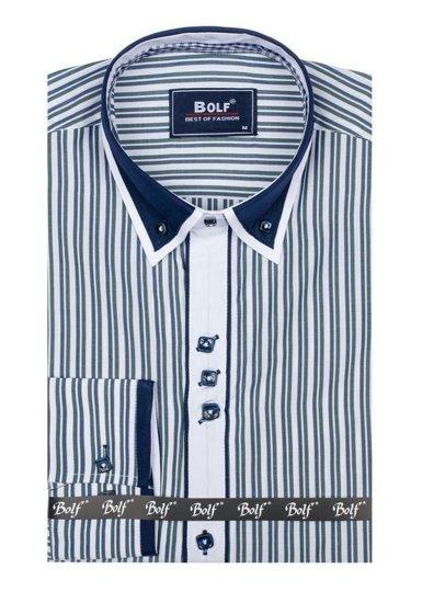 Pánská košile BOLF 6884 zelená