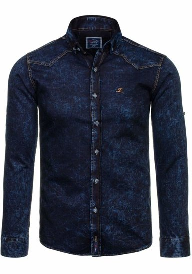 Pánská košile ZRVMAN 01 tmavě modrá