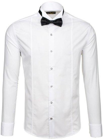 Pánská košile z muszką BOLF 5785 bílá