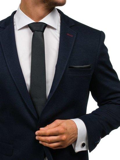 Pánská sada kravata, manžetové knoflíčky, černý kapesníček Bolf KSP01