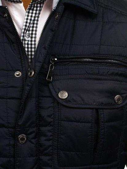 Pánská tmavě modrá přechodná bunda Bolf 7668