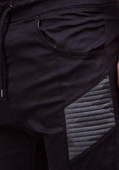 Pánské černé jogger kalhoty Bolf 0706