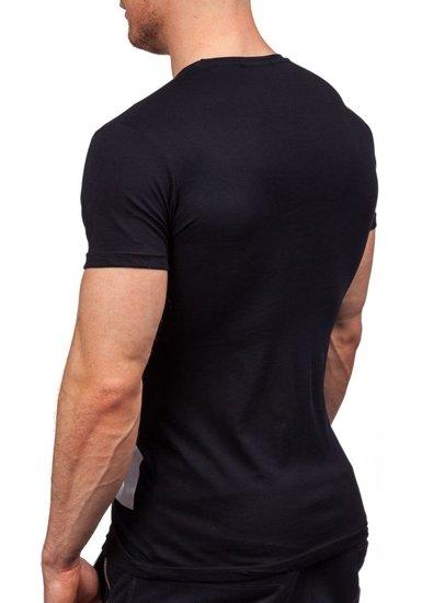Pánské černé tričko s potiskem Bolf 1918
