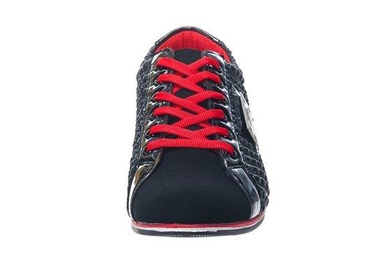 Pánské polobotky LUCIO GABBANI 639-1 černo-červené