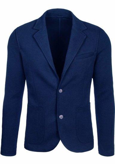 Pánské sako 01 tmavě modré
