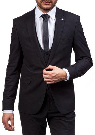 Pánský černý oblek Bolf 5005-1