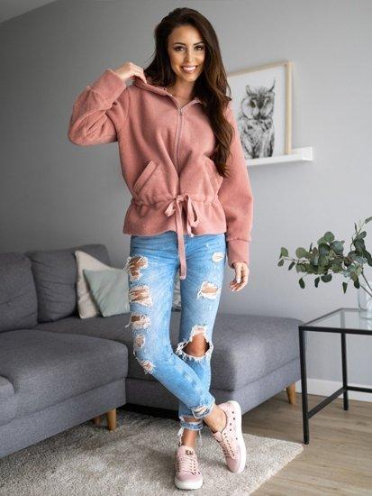 Růžová dámská bunda s kapucí Bolf 9320