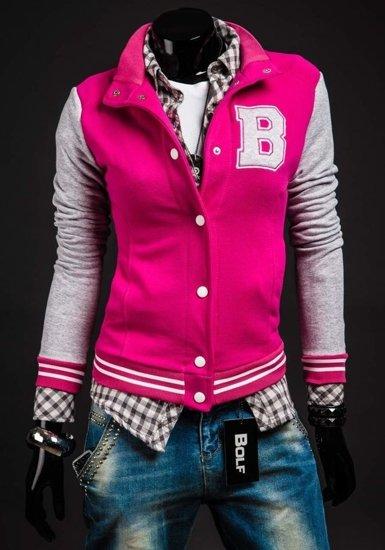Růžová dámská mikina Bolf 19