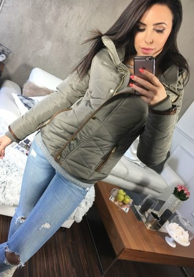 Šedá dámská zimní bunda Bolf 22