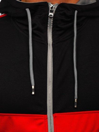 Šedá pánská mikina na zip s kapucí Bolf 81292