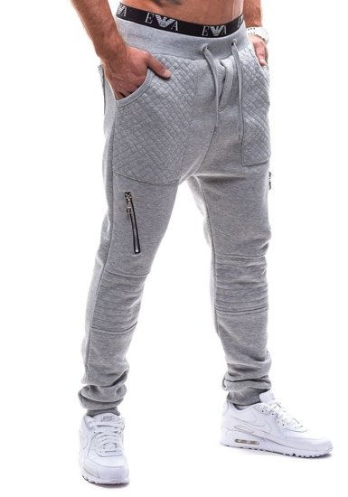 Šedé pánské baggy kalhoty Bolf K11
