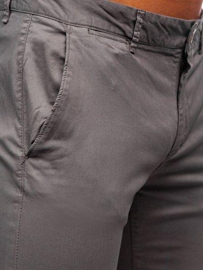 Šedé pánské chino kalhoty Bolf 1146